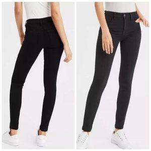 American Eagle High Waisted Black Skinny Jeans AEO